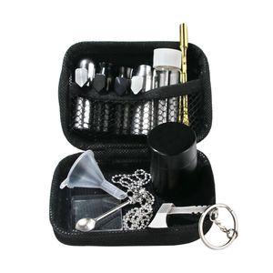 Табак нюхательный Kit Алюминий нечто сногсшибательное нюхательный Sniff Диспенсер нечто сногсшибательное Носовые металла Контейнер для хранения Jar Стеклянная бутылка Шкатулка Jar Металлические Ложка