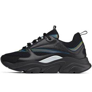 Dior B22 Toile pour hommes et Europa Mode Calfskin Baskets Mode Sneaker Chaussures de sport New B22 Technical Trainer Chaussures en tricot