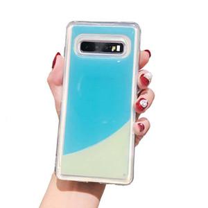 Luminous Neon Sand Case for Samsung Galaxy S10 Plus S8 S9 S10E Note8 Note 9 10 10+ Glow In The Dark Liquid Glitter Quicksand Phone Cover