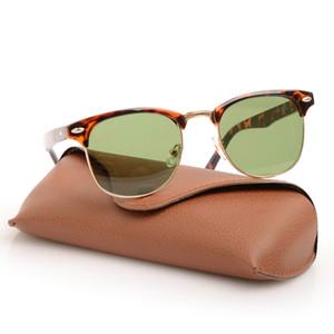 10шт Новый Классические черные мужские солнцезащитные очки Солнцезащитные очки Солнцезащитные очки WOMENS Марка Дизайнер Sun Glassess с корпусами Оригинальный Brown и коробками