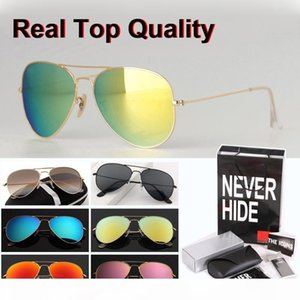 New Arrial 58 62 Pilot sunglasses women men Brand design glass lens Goggle 18 colors with original box, packages, accessories, everything!