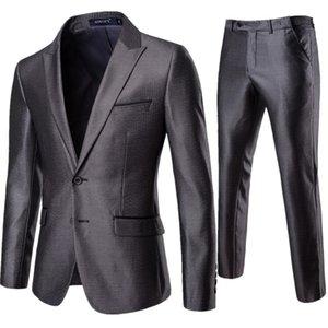 19 Spring And Autumn New Style Men Elegant Gentleman Suit Suit 2 Pieces Business Formal Wear Best Man Groom Marriage Formal Dres