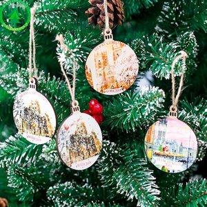 جديد خشبي شجرة عيد الميلاد ديكور معلق الكلمات الزينة الحرفية الحلي DIY