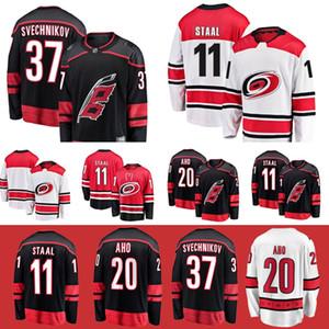 Carolina Hurricanes jerseys 37 ANDREI Svechnikov 11 Staal 20 Sebastian Aho 53 Jeff Skinner jerseys del hockey
