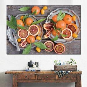 Cartel moderno kumquats pomelos mandarinas cítricos Impresiones de la lona Wall Canvas Art Prints sin marco