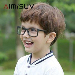 AIMISUV Square Kids Glasses Frame Fashion Silicone Flexible Optical Eyeglasses Frame Children 2020 Boy Girls Clear Glasses UV400