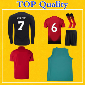 Cualquier camiseta de fútbol para hombre Jersey Kids Kit Player versión larga temporada uniforme de manga corta de fútbol Calcetines con juego de Clientes orden de vínculos