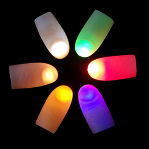재미 라이트 업 엄지 손가락 매직 트릭 소품 LED가 깜박임 손가락 램프 아이들을위한 참신 놀라운 장난감 F3140