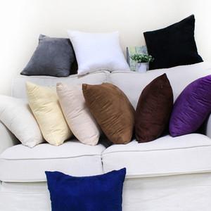 Главная Спальня Диван Pillowcase Сплошной Цвет бытового Multi цветы 40 * 40 см Подушка крышка с Невидимыми нейлоновыми молниями DH0772 T03