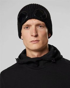 Унисекс Осень Зима CP C.P COMPANY два очки очки Шапочки мужчины вязаные шапки черепа открытых шлемов женщин Шапочки Gorros капоты