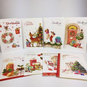بطاقة عيد الميلاد بطاقات المعايدة مع مغلف سانتا كلوز عيد الميلاد المشاركة هدية لعيد ميلاد عيد الحب ديكور حفل زفاف يوم