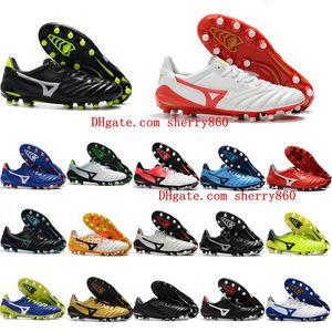 Baratos de fútbol de cuero de la nueva llegada 2018 baratas Low Morelia Neo II FG zapatos de fútbol para hombre botas de fútbol al aire libre