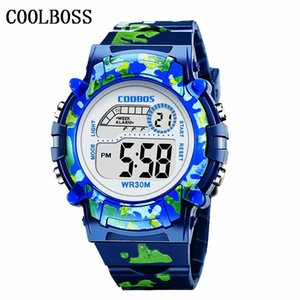Military Navy Blue Children'S Watch Kids Led Digital Wristwatch Brave Faith Boy Girl Alarm Clock Baby Gift For Student 3-13 Age tugqM