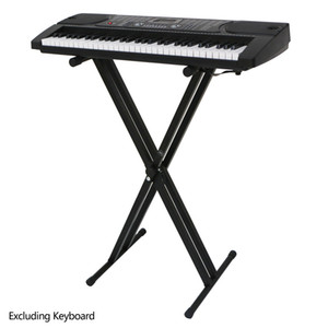 Foldable Portable Double-tube X-shaped Electronic Piano Stand Suitable for Family Electronic Piano Placement for Piano Performance