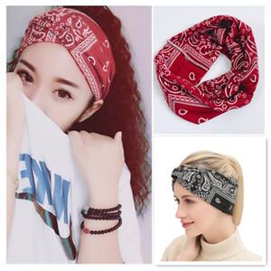 Big Girls stampato fascia 6 disegni signore Boemia Wide-bordo Croce fascia Teens Ragazze Fasce Per Capelli Signora Headwear Accessori per capelli 060.319