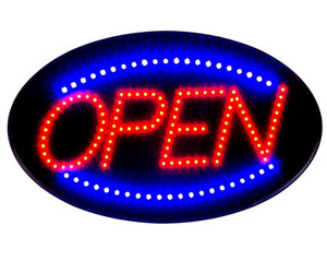 ON / OFF OPEN 비즈니스 로그인 타원형 10x19 미국 플러그와 울트라 밝은 LED 네온 빛 애니메이션 모션