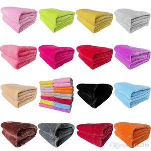 50*70cm Warm Flannel Fleece Towel Blankets Pure color thickened coral Plush blanket Winter Sofa Soft Plush Blanket T9I00232