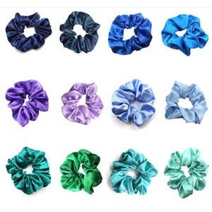 Many colors Scrunchies Headband Pure color Hairbands Large Intestine Hair Ties Ropes Girls Ponytail Holder Trendy Hair Accessories