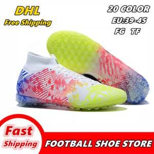 Alta ayuda zapatos de fútbol zapatos de patín FG-uñas botas de fútbol botas de fútbol del TF de los hombres de moda los zapatos de fútbol envío libre de botín de fútbol 008
