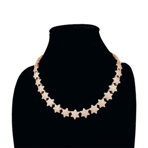 Full Stars Choker Collar Zicron Necklace Women Wedding Dress Statement Necklaces Pendants Luxury Jewelry Hot