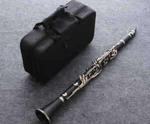 Clarinetes instrumento musical clarinete alta calidad 17 teclas Crampón para clarinete con el juego de accesorios de Musical