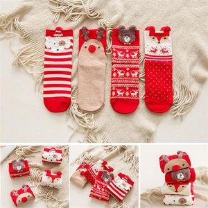 Länge Socken Cute Christmas Print Frauen Unterwäsche Lässige Kleidung Frauen Frohe Weihnachten Womens Designer mittleres Kalb