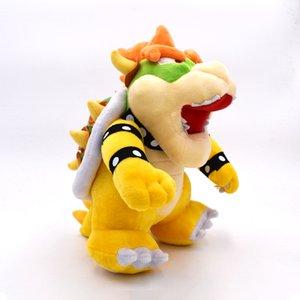 """10"""" Super Mario Bros Bowser Koopa Peluş Oyuncak Doldurulmuş Hayvan Bebekler Oyuncak Büyük Hediye çocuk oyuncakları Standı 25cm"""