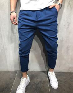 Hombres jogger pantalones otoño primavera deportes pantalones pantalones lápiz pantalones de chándal casual color sólido hommes pantalones largos