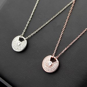316L Titanium Love Pendant Necklace Many Colors Lucky Lady 18K Rose Gold Necklace Length 45cm Pendant Jewelry Wholesale