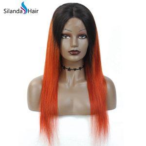 Ombre Dark Roots #T 1B / 350 Straight Remy человеческих волос парики фронта шнурка полный шнурок парики Интернет Продажа Бесплатная доставка