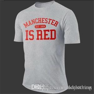 Manchester es / SWEA de algodón ropa de las mujeres de color rojo de alta calidad de manga corta camiseta de verano de la nueva letra de la impresión de la camiseta de los hombres tamaño XL 2XL