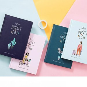 2018 coreano 100 benna da fare PREFERITI Kawaii Cute Flower Colorful Boxed Quotidiano Planner Ufficio Scolastico stazionario A5