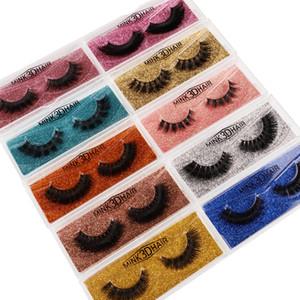 NEW 3D Mink Eyelashes Eye makeup Mink False lashes Soft Natural Thick Fake Eyelashes 3D Eye Lashes Extension Beauty Tools 10 styles