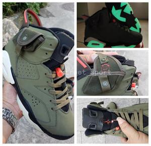 Nike Air Jordan Travis Scott 6 OG Mens Basketball Shoes Travis Scott 1 Cactus Jack x 6s Glow In Dark 3M Reflective Army Green Tinker TS SP des Chaussures