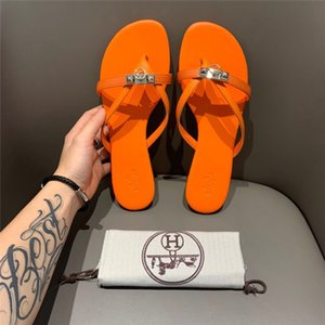 New original luxury ladies ladies H sandals and slippers women summer fashion wear-resistant leather H slippers new travel wild flat sandals