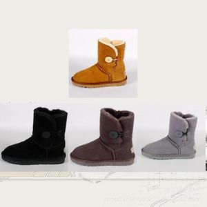 botas de adultos, no inverno de 2019 de pelúcia feminino fivela sapatos de cores quentes e puras ballet Homens sapatos botas e mulheres com golpe