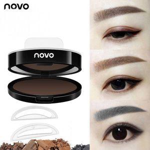 Brow Stamp I ENVY BY KISS Augenbraue-Pulver NOVO-Stempel versiegelt Makeup Eyes Brow Stamp-Palette Delicated Lidschatten Augenbraue mit Pinsel