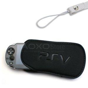 Bolso de la caja de la manga 2en1 Negro suave bolsa de transporte cubierta protectora para Sony PS VITA PCH-2000 PSV 1000 2000 accesorios de juego con la tira