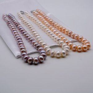 Freshwater pearl necklace, large pearls, multiple colors to choose from, classic gifts, women's pearl engagement necklace