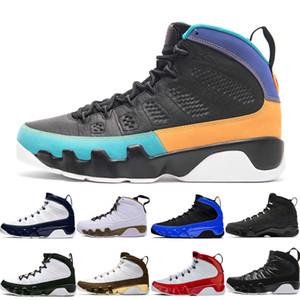 Горячие продажи 9 9s Dream It Do It Мужская баскетбольная обувь Дизайнеры мужчины Черный белый UNC 2010 RELEASE Mop Melo спортивные кроссовки