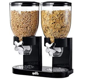 2020010995 KCH-06121 / GAT200 Indispensável Dry Food Dispenser, controle duplo, Black / Chrome