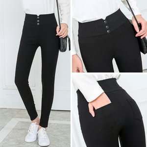 Pantaloni felpa Designer Donna Pantaloni pantaloni neri pantaloni matita donne Primavera Autunno Pocke Pant donna pro signore Jean pantaloni femminili Pant