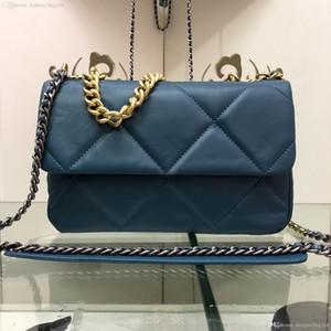 Il nuovo modo del progettista delle donne della borsa Chain CrossBody borse Piccola borsa a spalla vera pelle panno grata di diamante Agnello Tote Bag Purse