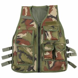 Crianças Tactics Vest Nylon CS jogo Body Armor Vest for Kids Jacket Camping Outdoor Games competição equipamento de Kid