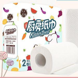 Кухонные полотенца туалетная бумага полотенца 2 слоя высокого качества 2 рулона / упаковка бумаги влажный туалетный столик кухня T6