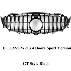 AMG Style Mesh Grille GT Styling Car Grill For E CLASS W213 4 Doors Sport Version 16-18 Diamond Model Front Kidney Grilles