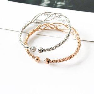 Ouverture Bangles Femmes Bijoux Bracelet creux Creative Bracelets mode FASHION Twist Bijoux de haute qualité à la mode Bransoletka