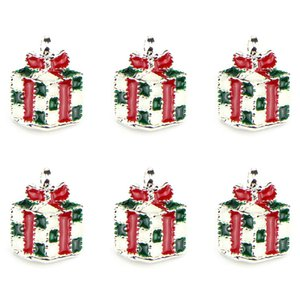 NEW 10Pcs/lot Christmas Tree Santa Wreath Pendant Charms Fit Pandora Bracelets Women Diy Jewelry Drop Ornaments Wholesale