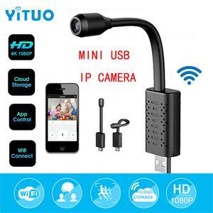 YITUO 미니 USB 와이파이 IP 카메라 풀 HD 1080P P2P CCTV 카메라와 SD 카드 슬롯 클라우드 스토리지 스마트 감시 모션 알람 감지