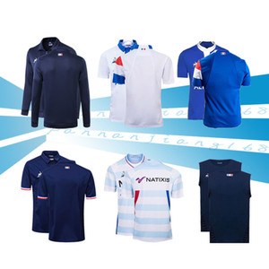 2019 XV DE FRANCE HOME RUGBY JERSEY 18/19 XV DE FRANCE RUGBY JERSEY 92 DOMICILE New style France SINGLET XV DE Giacca JERSEY taglia S-M-3XL